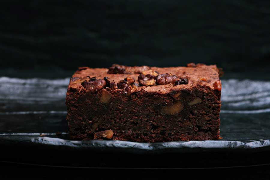 Delicioso y nutritivo brownie de chocolate